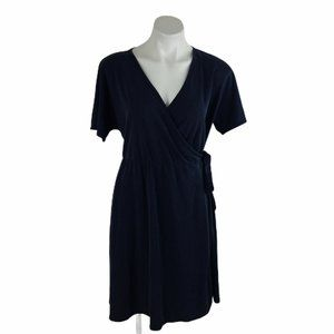 Agnes & Dora Nightingale Wrap Dress Solid Blue